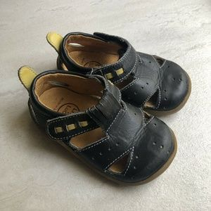 Livie & Luca Black Leather Toddler Shoes
